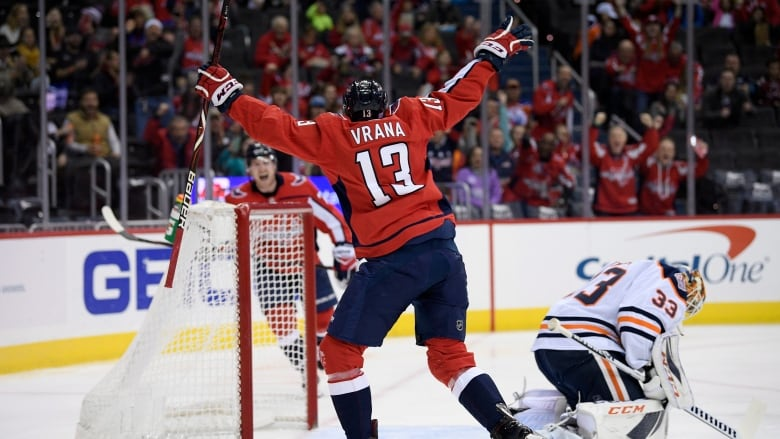 Capitals Beat Oilers To Snap 2-game Skid