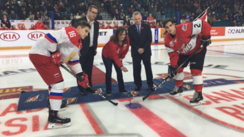 Bellerive leads WHL to victory in opener of Canada-Russia