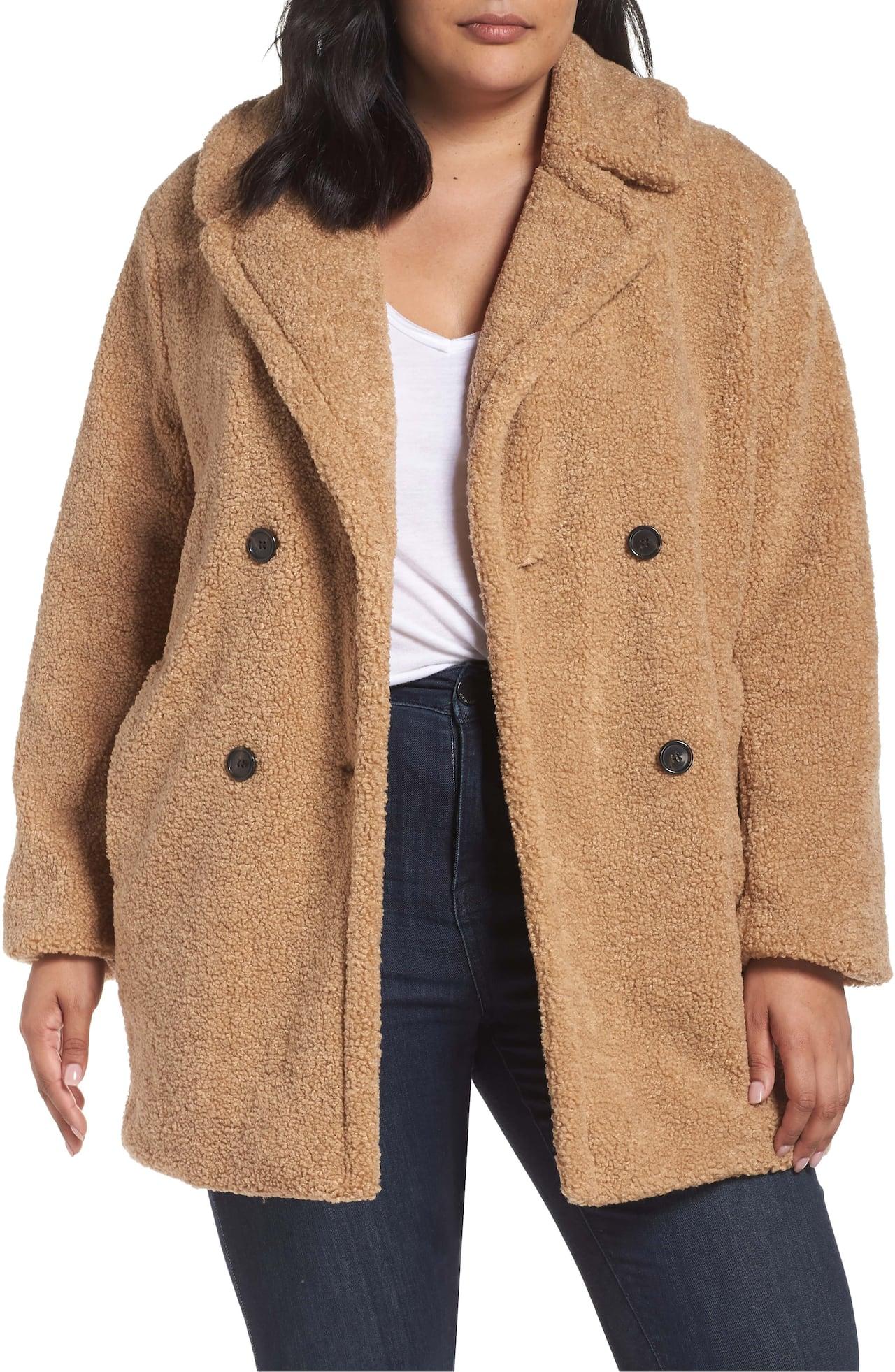 Coat198 Kensie Collar Teddy Faux Fur Notch Bear 0X8knwOP