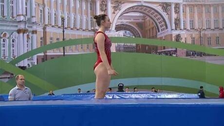 Rosie MacLennan leads Canada to team bronze at Trampoline Worlds