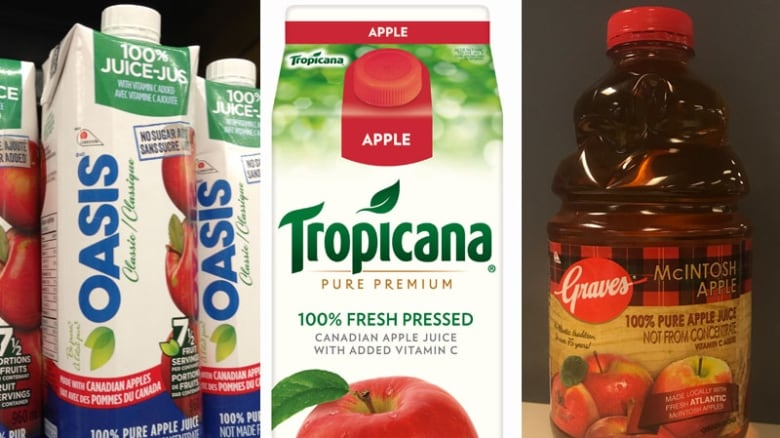 American apple juice is clearly labelled, but Canada's rules