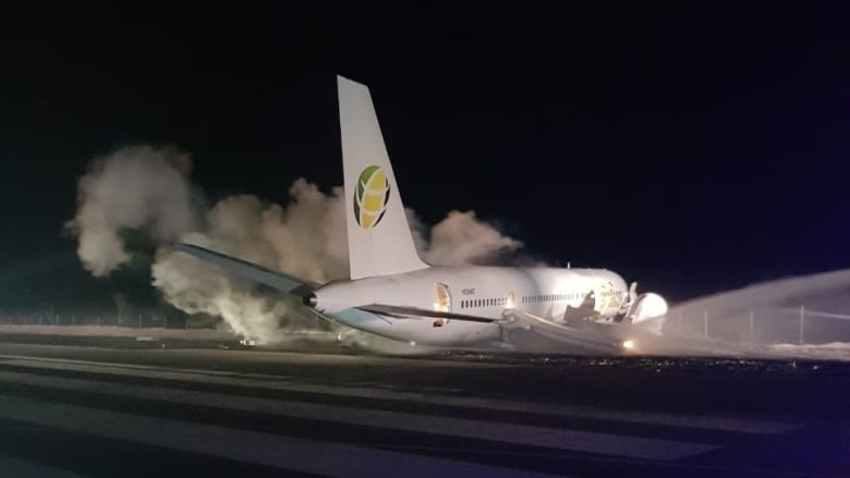 Boeing 757 crash-landing in Guyana injures 6 passengers