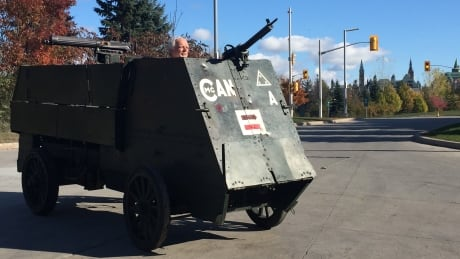 Rumbling into the past: The incredible story of a First World War armoured car and the man who rode in it   CBC