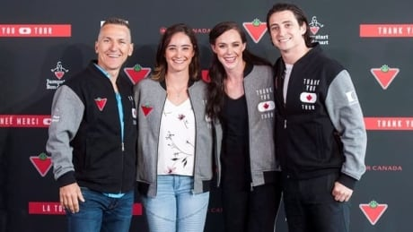Virtue, Moir and friends having a blast saying 'Thank you' to Canada