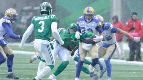 Harris leads Bombers to West final with win over Roughriders