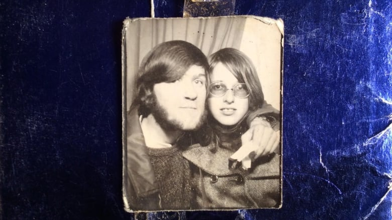 A picture of Adrian Pearce and Vicki Allen circa 1970, placed on the gift  she gave him for Christmas almost 48 years ago. (Adrian Pearce)