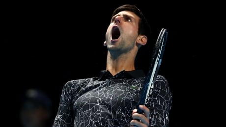 Djokovic cruises past Isner in ATP Finals opener