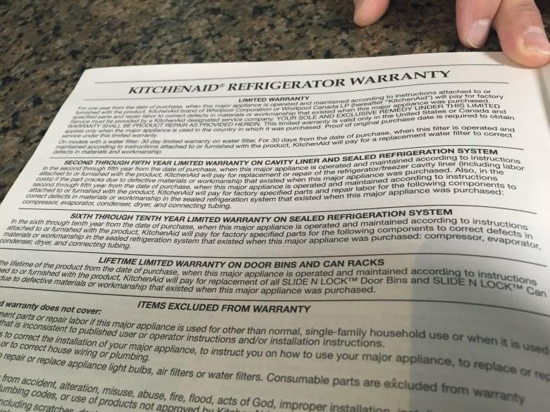 Whirlpool refused to honour his 10-year fridge warranty