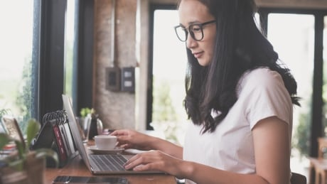 shutterstock woman working from home office