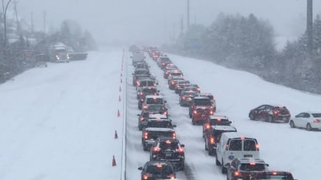 Collisions snarl traffic as N.S. hit by 1st winter storm