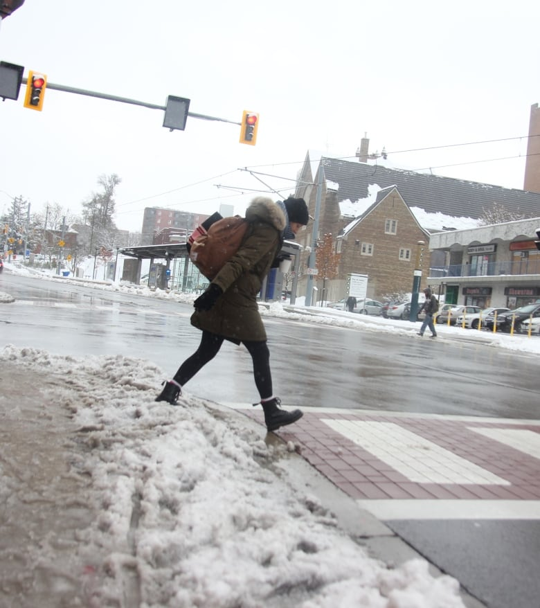 The Kitchener Record: Streets Were Slushy And Slippery After An Autumn Snowfall