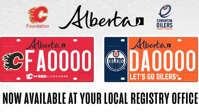 Oilers, Flames specialty plates announced