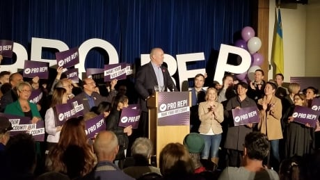 John Horgan proportional representation rally 18 Nov 2018