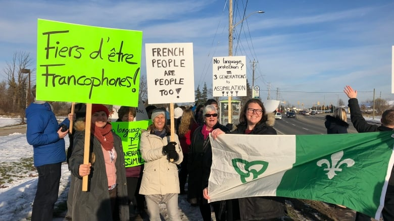 Cambridge Franco Ontarians Protest Ford Government Cuts To