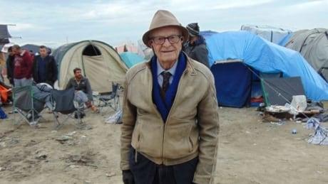 Harry Leslie Smith at refugee camp