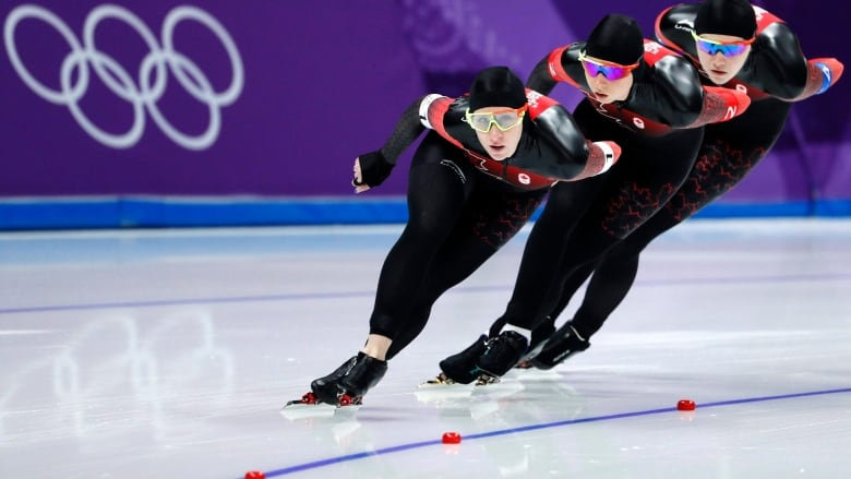 Canadian women win silver in World Cup speed skating event ...