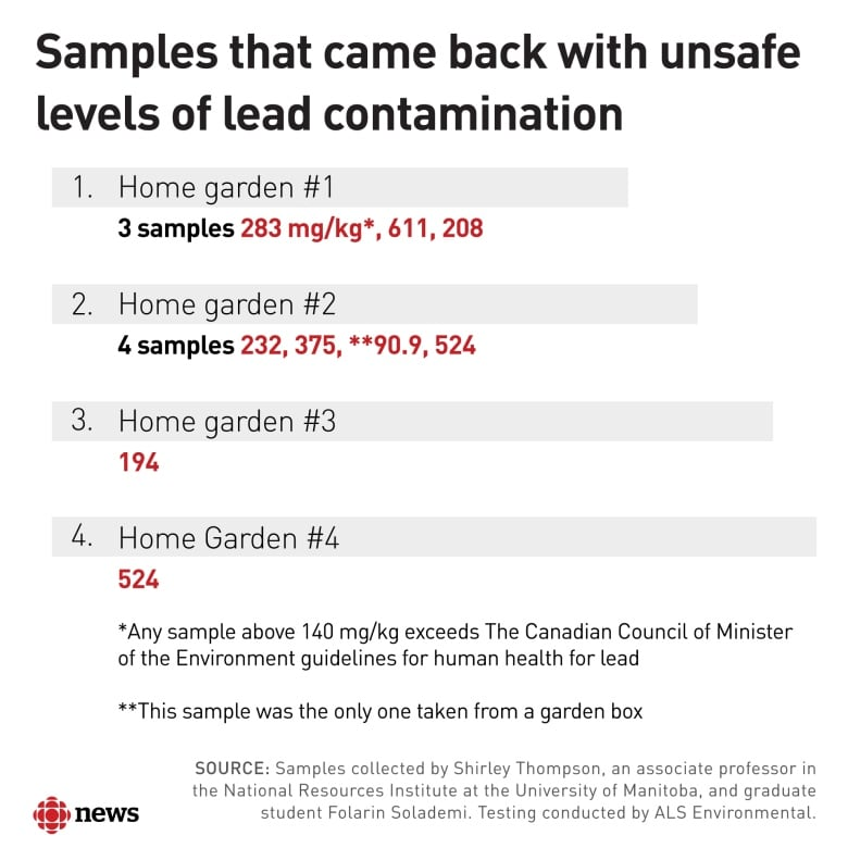 Tests commissioned by CBC show lead contamination