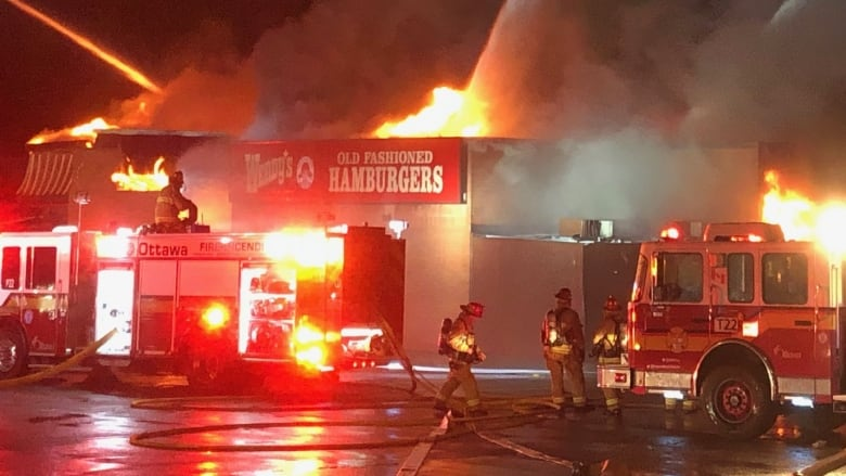 man charged with arson after wendy s fire cbc news
