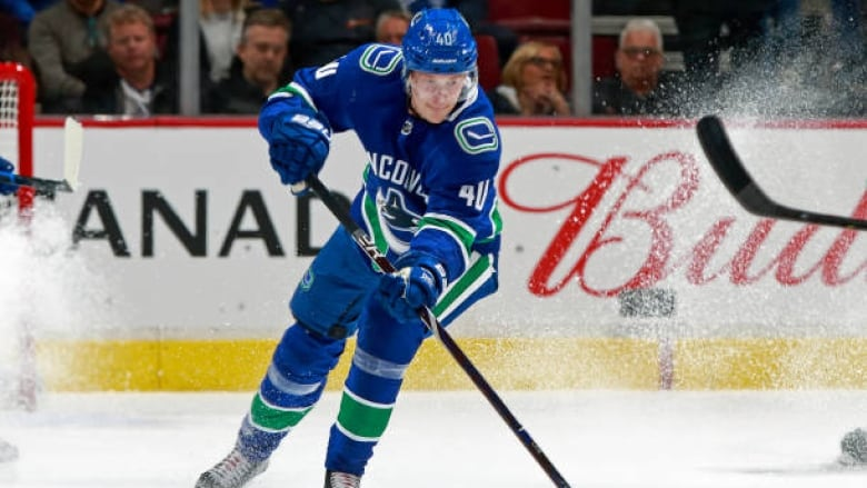 2d6a2512853 Elias Pettersson has thrived in his rookie season with the Canucks, and fans  are heartened by the Swede's early success. (Jeff Vinnick/Getty Images)