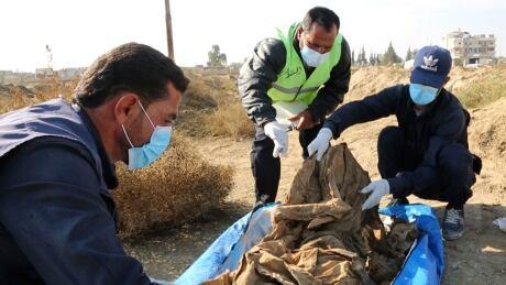 Syria Raqqa Mass Grave