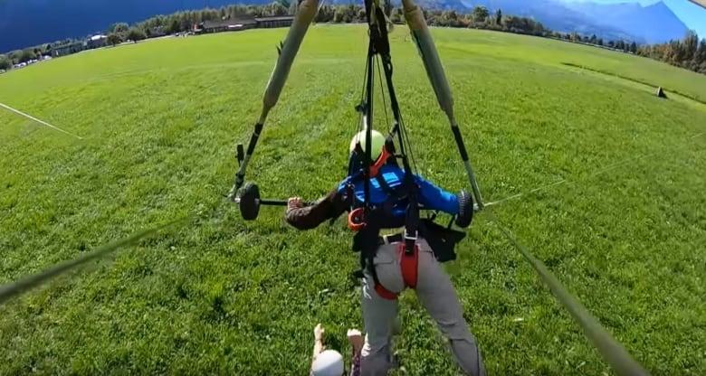 Hair-raising hang gliding incident caught on camera   CBC News