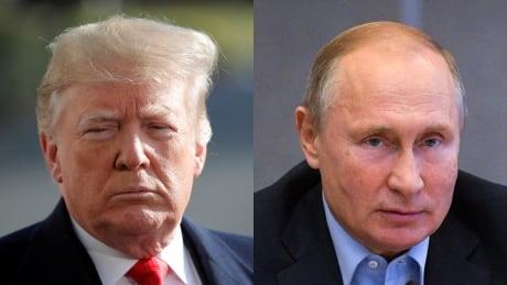Trump Putin collage