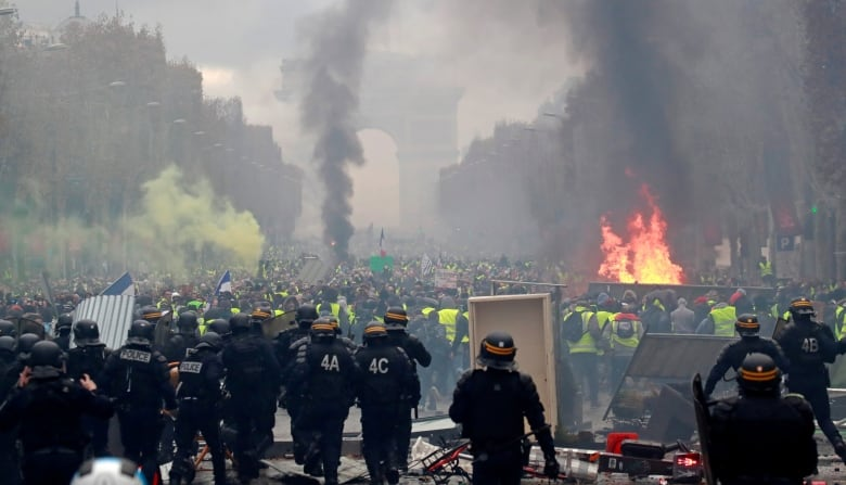 Rebellion In France Police Brace For Angry Yellow Vest Protest Against Government Cbc News