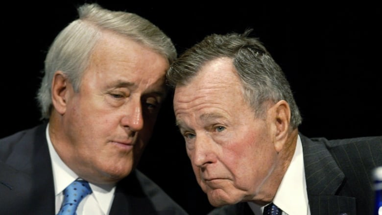 Brian Mulroney to give eulogy for George H W  Bush | CBC News