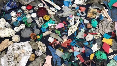Ocean plastics debris from Gord Johns Courtenay-Alberni riding