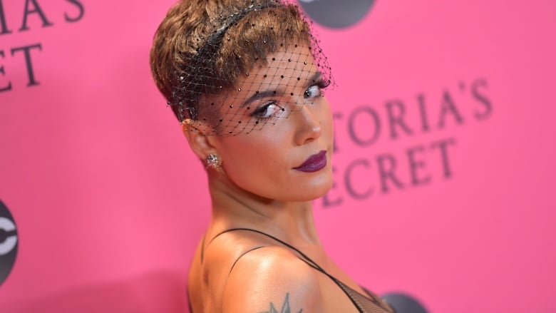 e5a0fb498fba1 Halsey is seen arriving for the 2018 Victoria s Secret Fashion Show at New  York s Pier 94 on Nov. 8. On Sunday