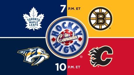 HNIC - TOR at BOS - NSH at CGY - Maple Leafs at Bruins - Predators at Flames