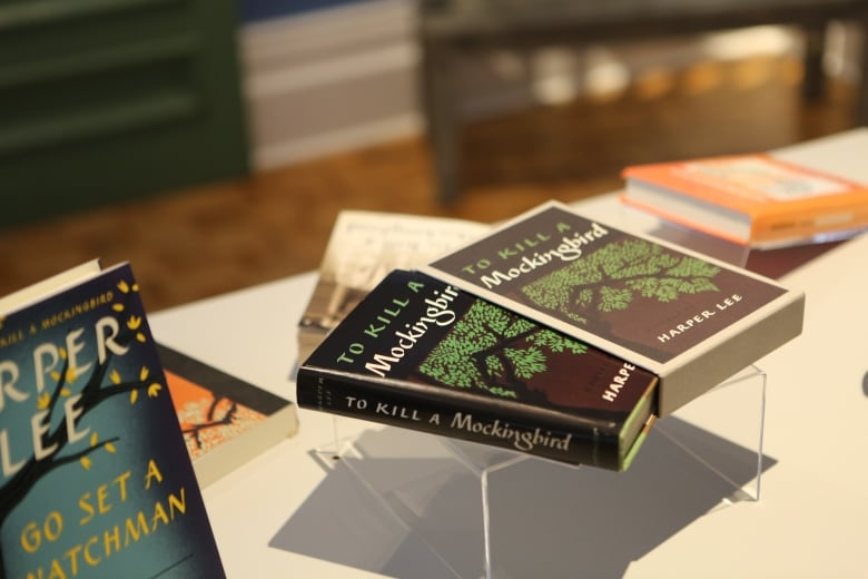 Harper Lees Novels Are Seen On Display At The To Kill A Mockingbird Exhibit Stratford Perth Museum In Southern Ontario This Past November