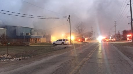 Commercial fire in Kingsville closes Road 3