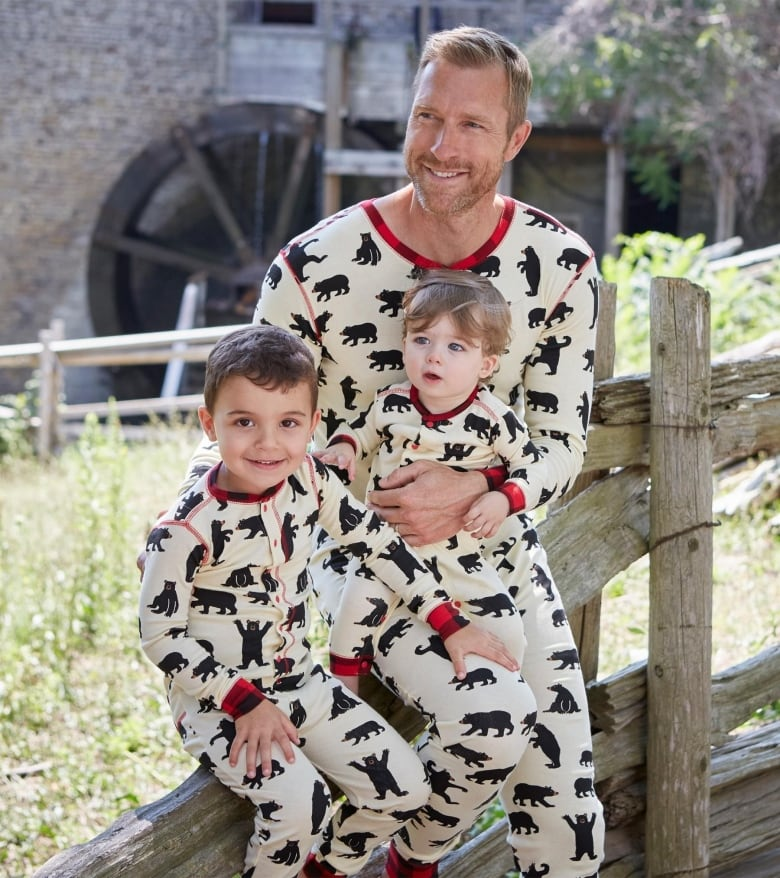 c990b23323 Animal lovers will cheer for these black bear pyjamas from Hatley brand  Little Blue House. The 100% cotton union suits come in adult