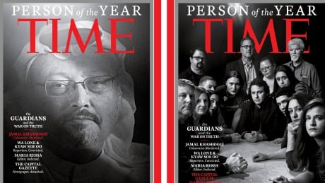 Time names killed, jailed journalists as 2018 Person of the Year