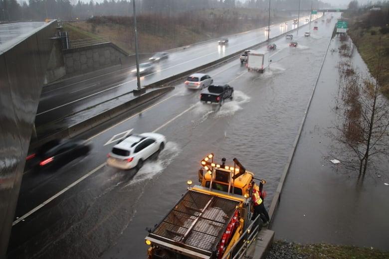 Pouring rain causing flooding — traffic disruptions — across Lower Mainland