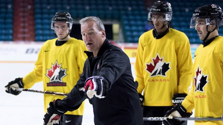 1af50a526 Canadian head coach Tim Hunter has worn many hats throughout his hockey  career. (Jeff Bassett Canadian Press)