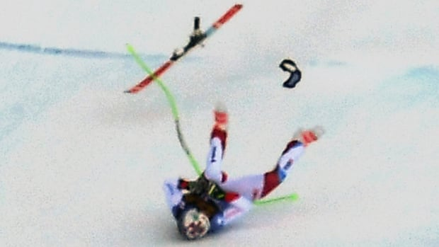 Swiss skier Marc Gisin airlifted to hospital after downhill crash in Italy