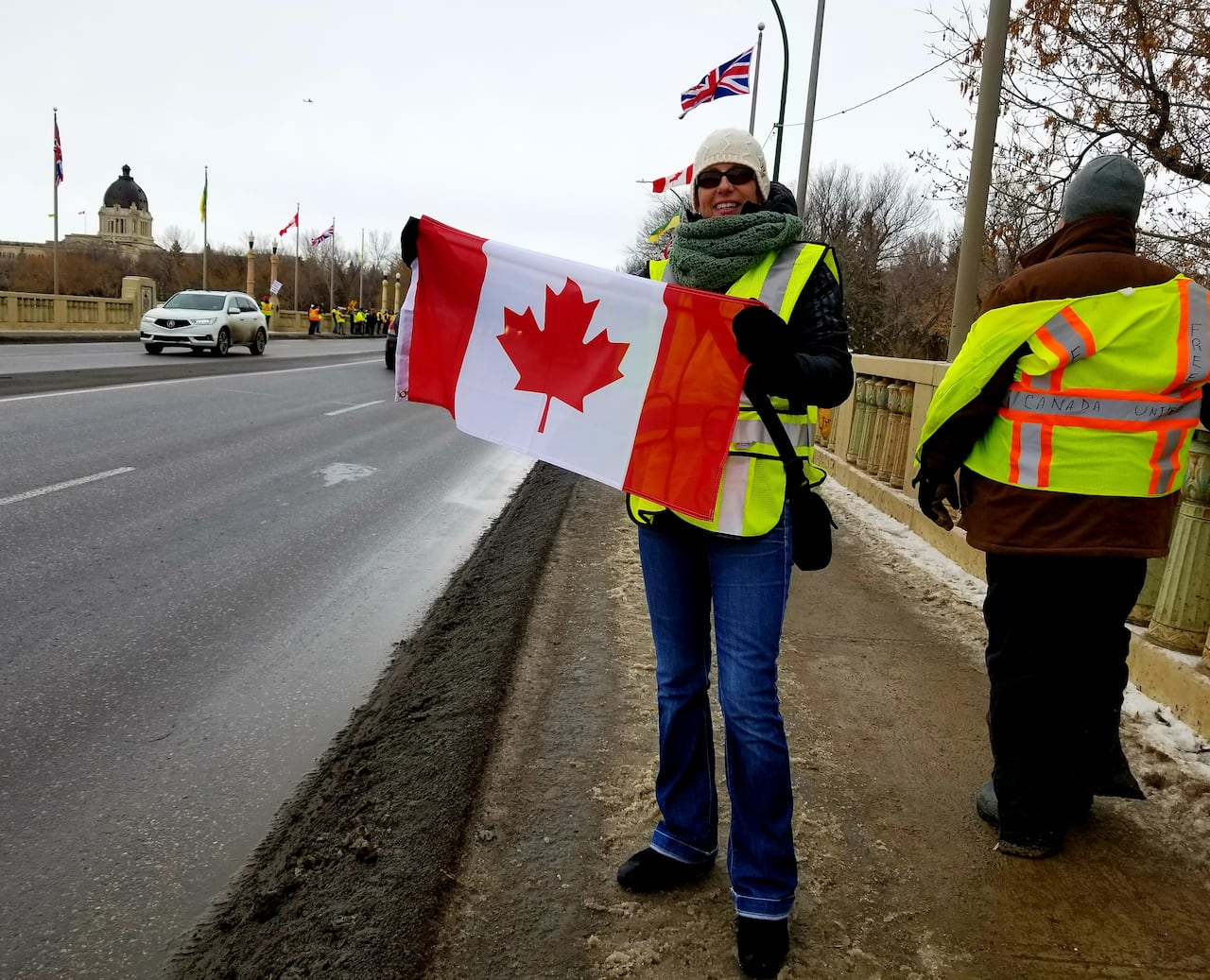 Regina yellow vest protesters 'standing up for Canada