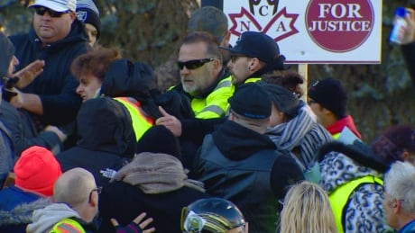 Edmonton anti-immigration protest fight