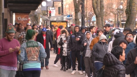 Drake fans wait overnight for launch of clothing store in Vancouver