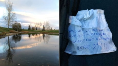 'You are not welcome here' messages greet residents of new homes built on old Calgary golf course