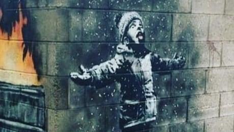 Banksy mural Wales