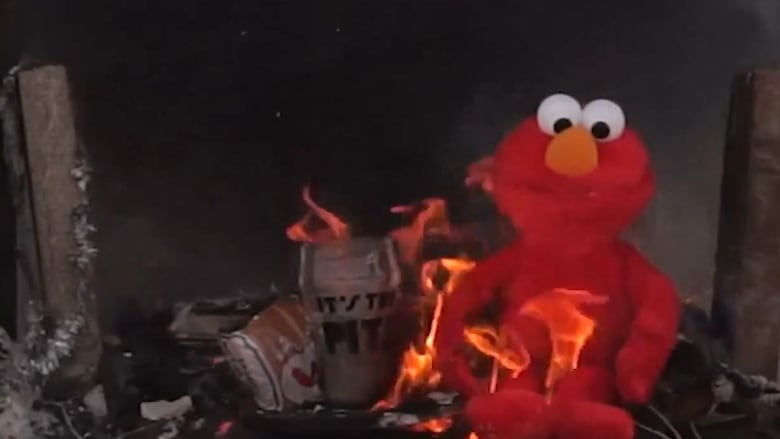 Put Another Log In This Fire Of Tickle Me Elmo Man Puts