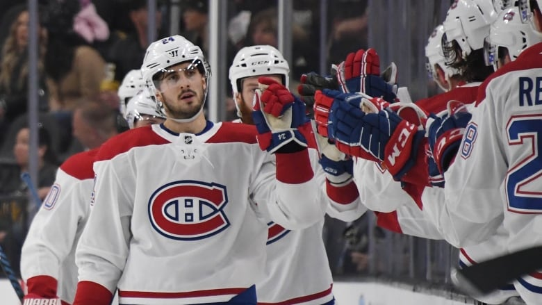 f799c30bd2e Phillip Danault completed a hat trick to help the Montreal Canadiens defeat  the Vegas Golden Knights 4-3 in OT on Saturday. (Ethan Miller Getty Images)