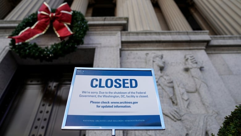 a sign declares the national archive is closed due to a partial federal government shutdown in washington on dec 22 joshua robertsreuters