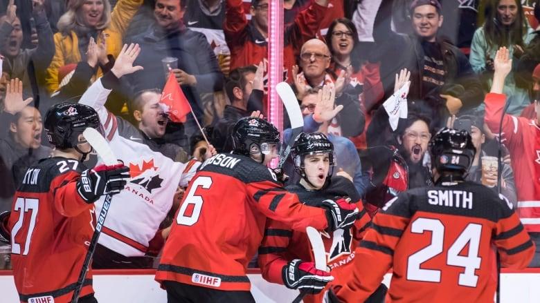 Canada Routs Denmark 14 0 In World Juniors Opener Cbc Sports