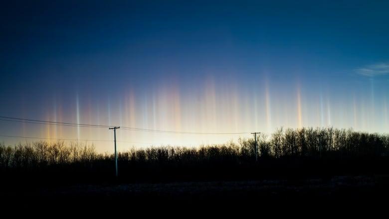 night lights rare optical illusion shone in winnipeg skies late