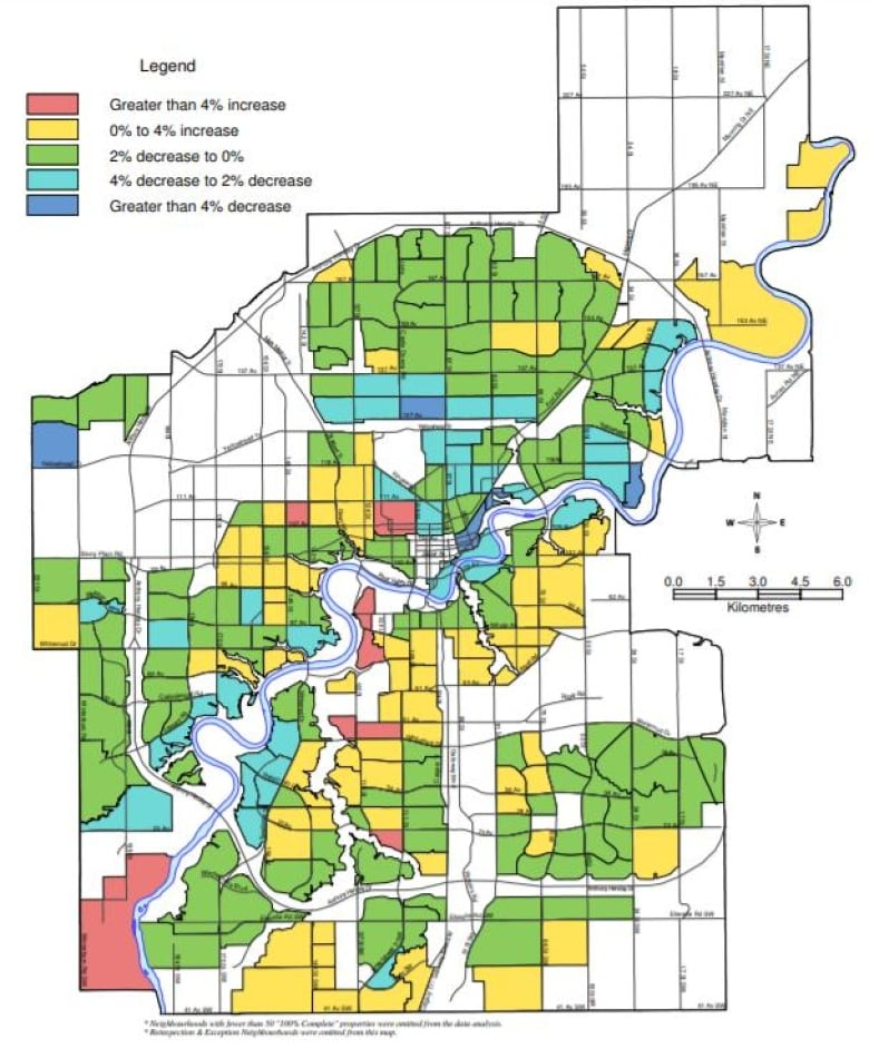City Of Edmonton Assessment Map Edmonton properties slip in assessed value, city figures show