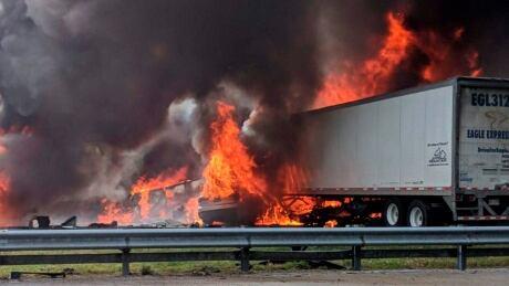 Fatal Crash-Interstate Fire-Florida
